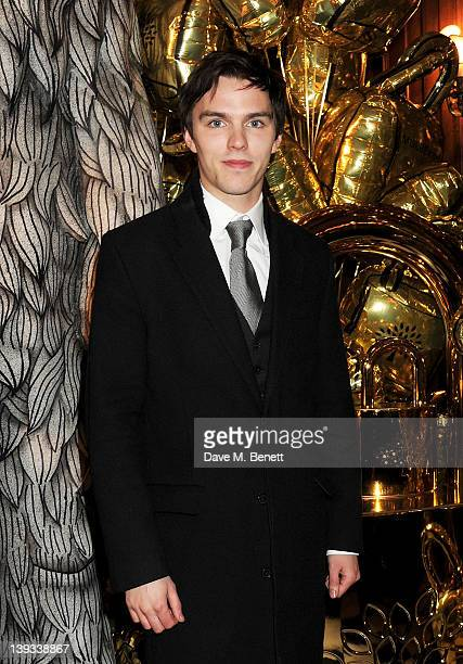 Nicholas Hoult attends a dinner following the Mulberry Autumn/Winter 2012 show during London Fashion Week at The Savile Club on February 19 2012 in...