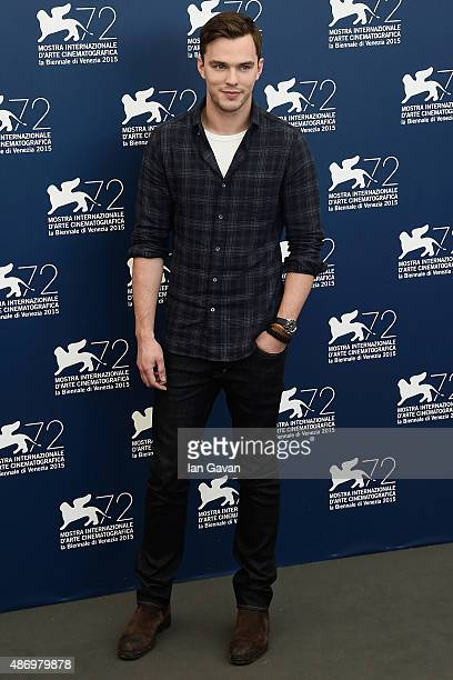Nicholas Hoult attends a photocall for 'Equals' during the 72nd Venice Film Festival at Palazzo del Casino on September 5 2015 in Venice Italy