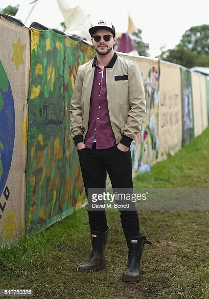 Nicholas Hoult attends day 1 of Glastonbury Festival on June 24 2016 in Glastonbury England