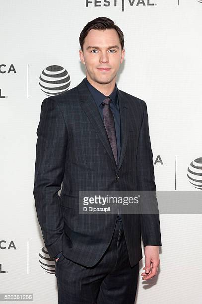 Nicholas Hoult attends the 'Equals' premiere during the 2016 Tribeca Film Festival at John Zuccotti Theater at BMCC Tribeca Performing Arts Center on...
