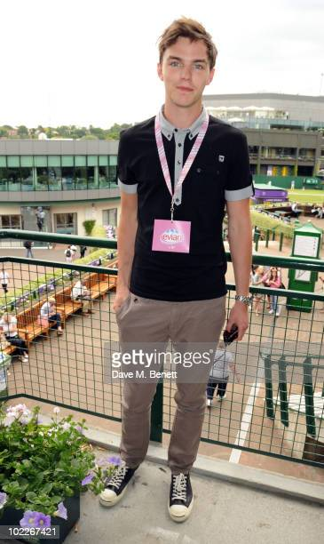 Nicholas Hoult attends the Evian VIP Suite during the 2010 Wimbledon Championships at the All England Tennis Club on June 21 2010 in London England