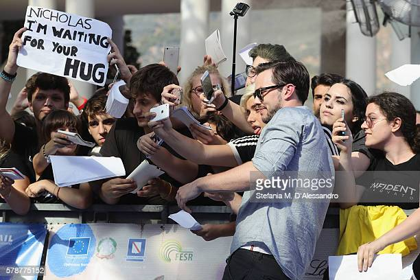Nicholas Hoult attends the Giffoni Film Festival blue carpet on July 22 2016 in Giffoni Valle Piana Italy