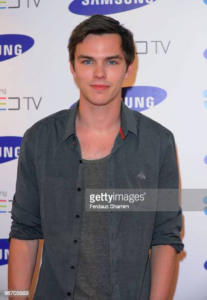 Nicholas Hoult attends the launch party for Samsung 3D Television at Saatchi Gallery on April 27 2010 in London England
