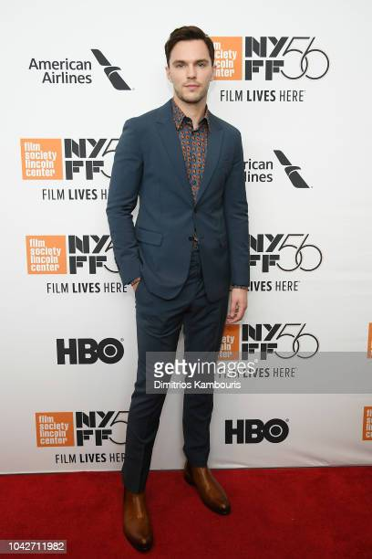 Nicholas Hoult attends the opening night premiere of The Favourite during the 56th New York Film Festival at Alice Tully Hall Lincoln Center on...