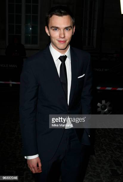 Nicholas Hoult attends UK Film Premiere of 'A Single Man' at The Curzon Mayfair on February 1, 2010 in London, England.
