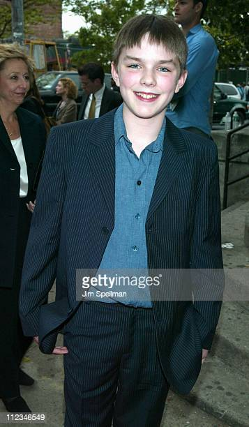 Nicholas Hoult during 2002 Tribeca Film Festival 'About A Boy' Premiere at Tribeca Performing Arts Center in New York City New York United States