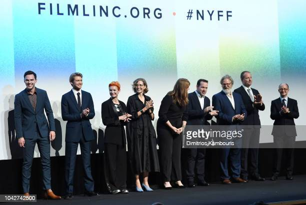 Nicholas Hoult Joe Alwyn Sandy Powell Fiona Crombie Nadia Stacey Tony McNamara Andrew Lowe and Ed Guiney attend the opening night premiere of The...