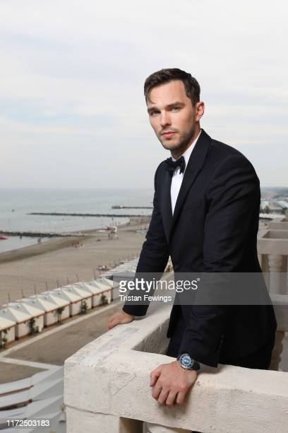 Nicholas Hoult poses for a portrait wearing a JaegerLeCoultre watch during the 76th Venice Film Festival at Palazzo del Cinema on August 28 2019 in...