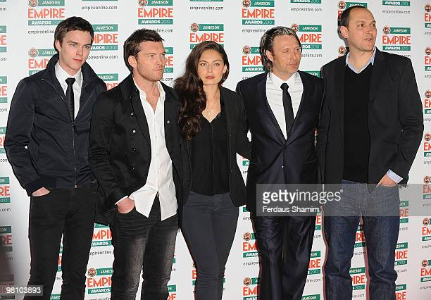 Nicholas Hoult Sam Worthington Alexa Davalos Mads Mikkelson and Louis Leterrier attend the Jameson Empire Film Awards at The Grosvenor House Hotel on...