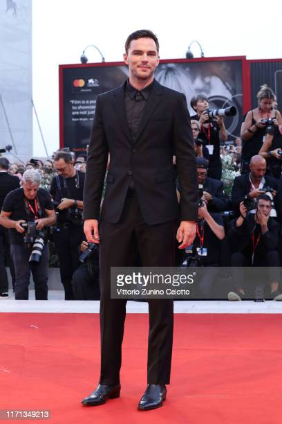 """Nicholas Hoult walks the red carpet ahead of the """"Joker"""" screening during the 76th Venice Film Festival at Sala Grande on August 31, 2019 in Venice,..."""