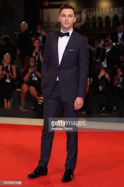 Nicholas Hoult walks the red carpet ahead of the My Masterpiece screening during the 75th Venice Film Festival at Sala Giardino on August 30 2018 in...