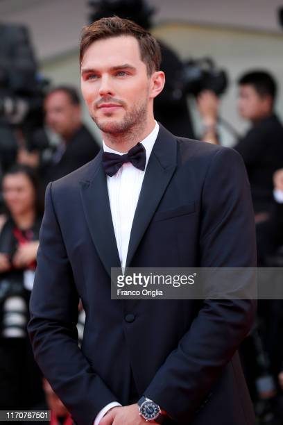 Nicholas Hoult walks the red carpet ahead of the Opening Ceremony and the La Vérité screening during the 76th Venice Film Festival at Sala Grande on...