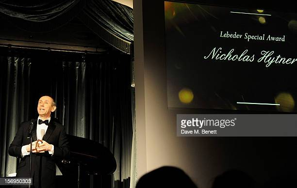 Nicholas Hytner accepts the Lebedev Special Award at the 58th London Evening Standard Theatre Awards in association with Burberry at The Savoy Hotel...