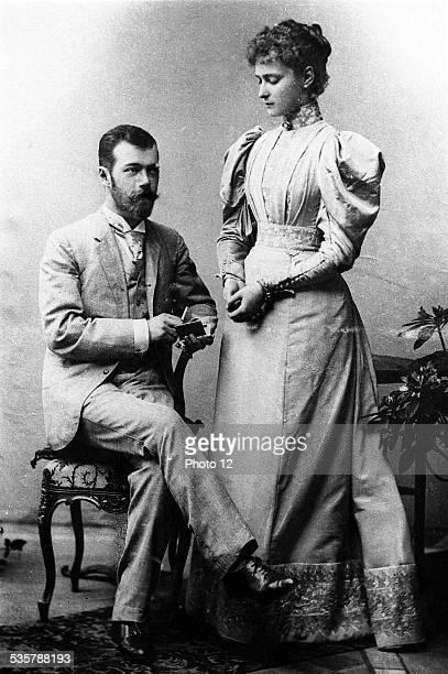 Nicholas II Alexandrovich and Alexandra Feodorovna, Tsar and Tsarina of Russia, Nicholas II , last Tsar of Russia , Alexandra Feodorovna , daughter...