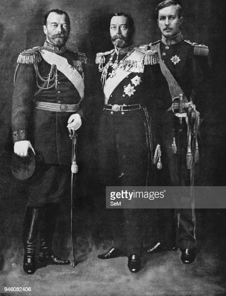 Nicholas II Emperor of Russia George V King of England Albert King of the Belgians 1914