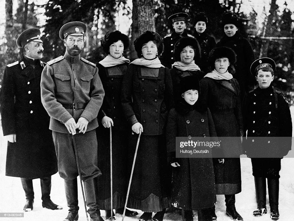 Tsar Nicholas II and Family, 1917 : Photo d'actualité