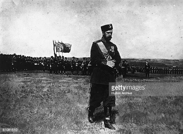 Nicholas II , the last Tsar of Russia, circa 1917.