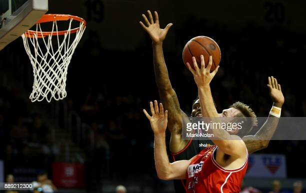 Nicholas Kay of the Hawks drives to the basket during the round nine NBL match between the Illawarra Hawks and the Perth Wildcats at Wollongong...