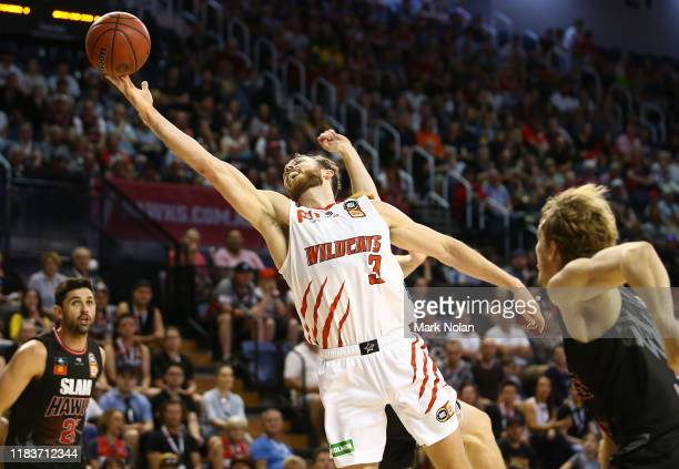 Nicholas Kay of the Wildcats in action during the round four NBL match between the Illawarra Hawks and the Perth Wildcats at Wollongong Entertainment...
