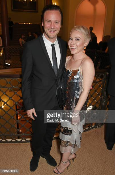 Nicholas Kirkwood and Daisy Lewis attend a drinks reception ahead of the London Evening Standard Theatre Awards 2017 at the Theatre Royal Drury Lane...