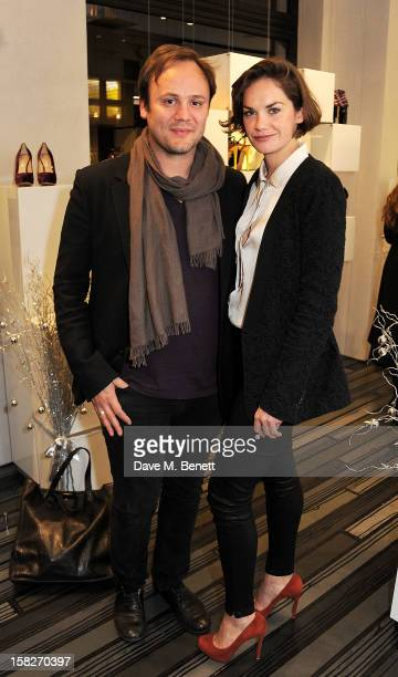Nicholas Kirkwood and Ruth Wilson attend a Christmas drinks hosted by designer Nicholas Kirkwood to celebrate his partnership with Chambord black...