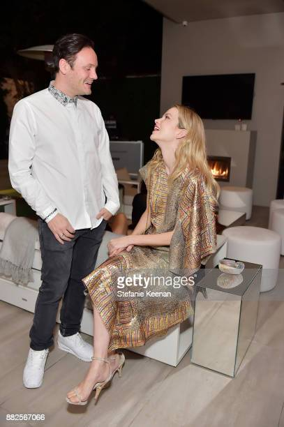 Nicholas Kirkwood and Sylvia Hoeks attend Nicholas Kirkwood and China Chow Host A Dinner For Matches Fashion on November 29 2017 in Los Angeles...