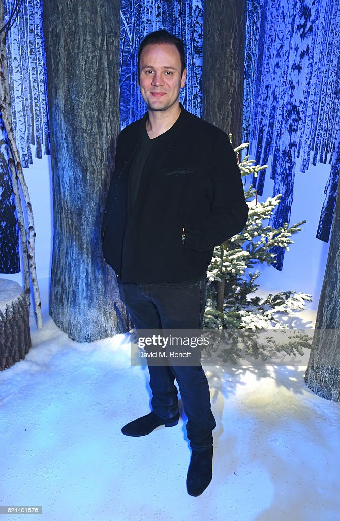 Nicholas Kirkwood attends Claridge's Christmas Tree 2016 Party, with tree designed by Sir Jony Ive and Marc Newson, at Claridge's Hotel on November 19, 2016 in London, England.