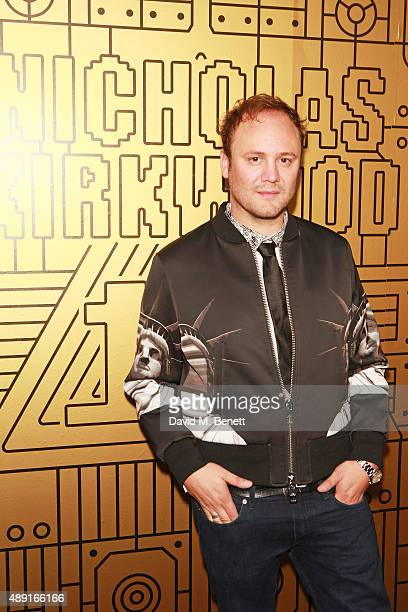 Nicholas Kirkwood attends Nicholas Kirkwood 10 year collection Launch and Party during London Fashion Week on September 19 2015 in London England