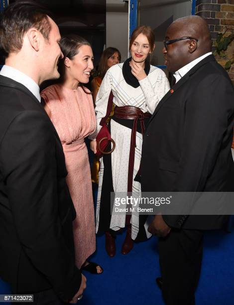 Nicholas Kirkwood Emilia Wickstead Roksanda Illincic and Edward Enninful attend a dinner hosted by Jonathan Newhouse and Albert Read for Edward...