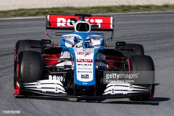 Nicholas Latifi driver of Williams in action during the Winter Test 2 of Formula One World Championship celebrated at Circuit de Barcelona on January...