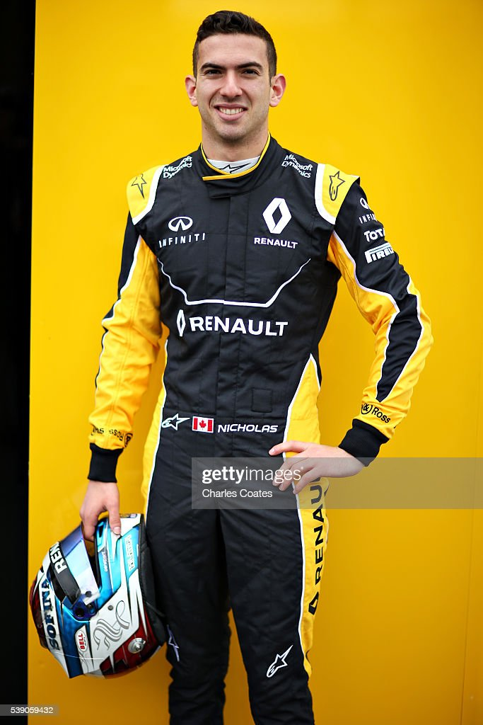 Nicholas Latifi of Canada and Renault Sport F1 is announced as the Renault Sport F1 test driver for the 2016 season during previews to the Canadian Formula One Grand Prix at Circuit Gilles Villeneuve on June 9, 2016 in Montreal, Canada.