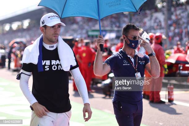 Nicholas Latifi of Canada and Williams prepares to drive on the grid during the F1 Grand Prix of Italy at Autodromo di Monza on September 12, 2021 in...