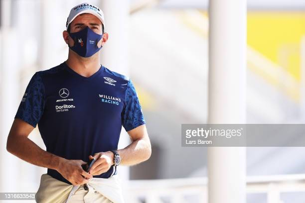 Nicholas Latifi of Canada and Williams walks in the Paddock during previews ahead of the F1 Grand Prix of Spain at Circuit de Barcelona-Catalunya on...