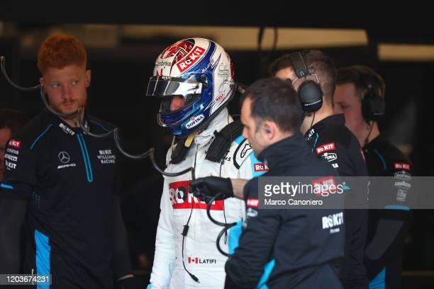 Nicholas Latifi of Rokit Williams Racing in the garage during day five of F1 Winter Testing
