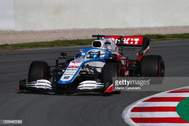 Nicholas Latifi of Rokit Williams Racing on track during day four of F1 Winter Testing