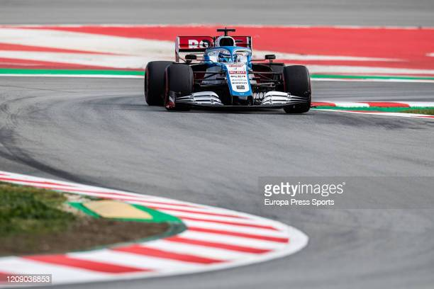 Nicholas Latifi of Williams in action during the Winter Test 2 of Formula One World Championship celebrated at Circuit de Barcelona on February 27...