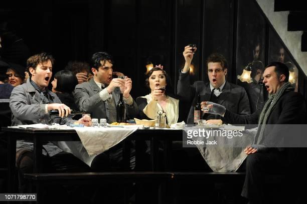 Nicholas Lester as Marcello Jonathan Tetelman as Rodolfo Natalya Romaniw as MimiDavid Soar as Colline and Bozidar Smiljanic as Schaunard in English...
