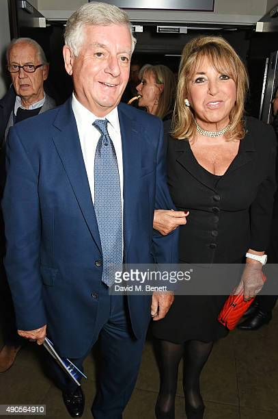 Nicholas Lloyd and Eve Pollard attend the press night of Pure Imagination The Songs of Leslie Bricusse at the St James Theatre on September 29 2015...