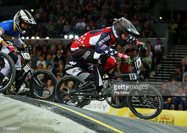 Nicholas Long of the USA in action during day five of the UCI BMX World Championships at Vector Arena on July 28 2013 in Auckland New Zealand