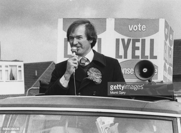 Nicholas Lyell the Conservative candidate for Hemel Hempstead out canvassing the locals UK 26th April 1979