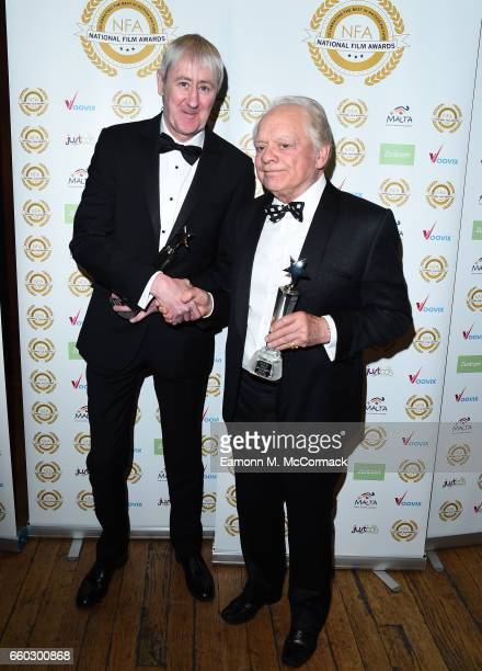 Nicholas Lyndhurst and David Jason attend the National Film Awards on March 29 2017 in London United Kingdom