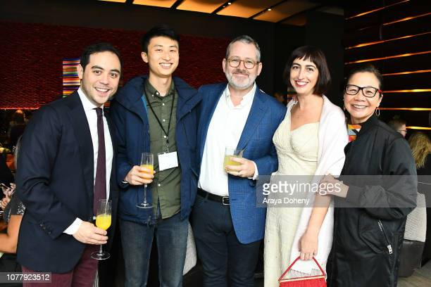 Nicholas Ma Bing Liu Morgan Neville Caryn Capotosto and Diane Quon attend the 2019 Film Independent Spirit Awards nominee brunch at BOA Steakhouse on...