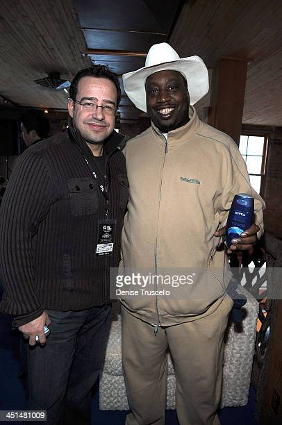 Nicholas Maurer and Three 6 Mafia member at the Island Def House of Hype Hospitality Suite on January 16 2009 in Park City Utah