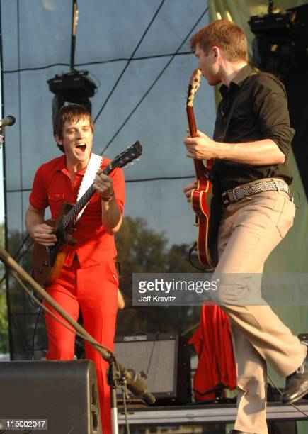 Nicholas McCarthy and Alex Kapranos of Franz Ferdinand