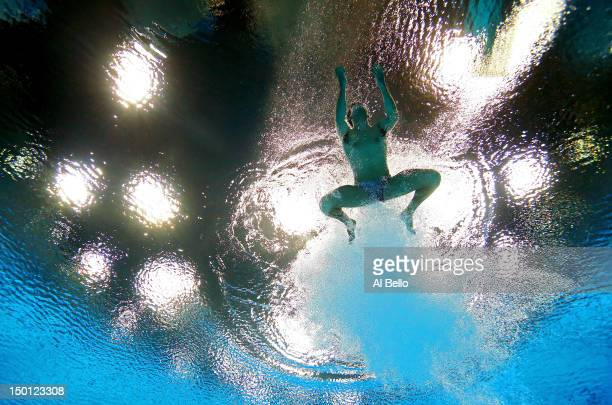Nicholas McCrory of the United States competes in the Men's 10m Platform Diving Preliminary on Day 14 of the London 2012 Olympic Games at the...