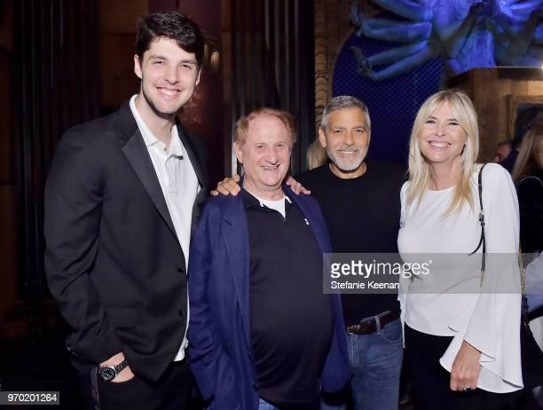 Nicholas Medavoy Mike Medavoy George Clooney and Irena Medavoy at the Casamigos House of Friends Dinner on June 8 2018 in Hollywood California