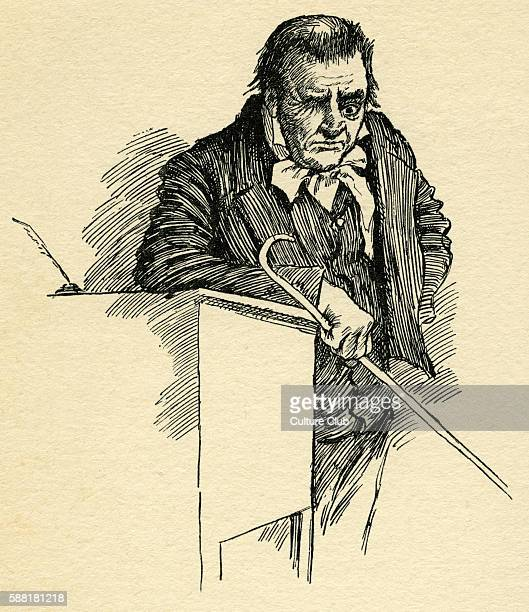 Nicholas Nickleby by Charles Dickens Caption reads Mr Squeers Originally published as a series in 18381839 CD English novelist 7 February 1812 – 9...