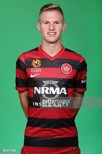 Nicholas Olsen of the Wanderers poses during a 2013/14 Western Sydney Wanderers ALeague portrait session at Fox Sports Studios on September 20 2013...