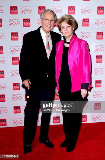 Nicholas Parsons and Denise Bryer attend Virgin Media's 42nd Broadcasting Press Guild Awards at Banking Hall in London