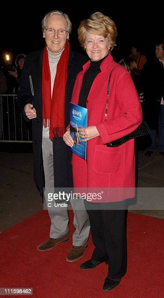 Nicholas Parsons and Guest during Cirque du Soleil Alegria Press Night Arrivals at Royal Albert Hall in London Great Britain